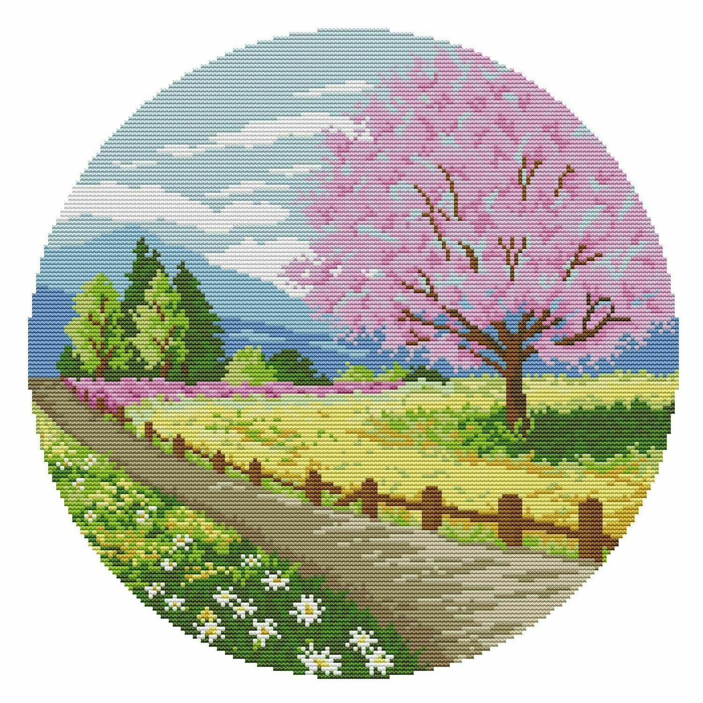 Набор для вышивания F 977 Времена года. Весна 40х40