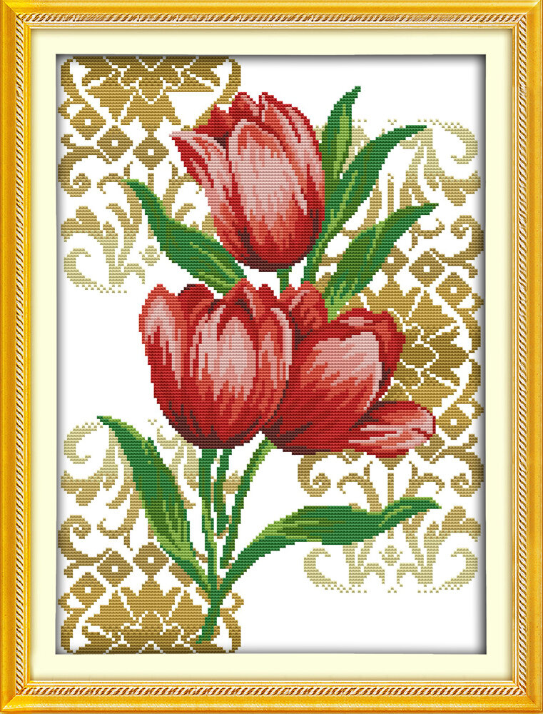 Набор для вышивания H 689 Тюльпаны (7) 33x45