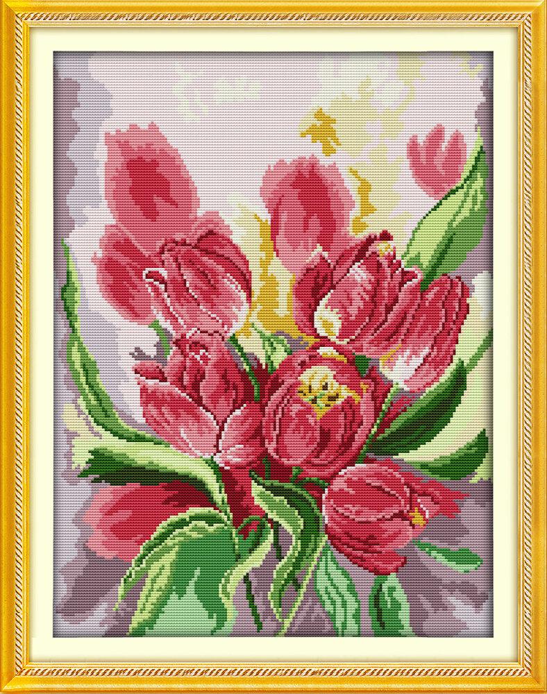 Набор для вышивания H 720 Розовые тюльпаны 37х48