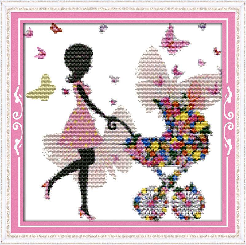 Набор для вышивания K 679 Цветочная фея (6) 34x34
