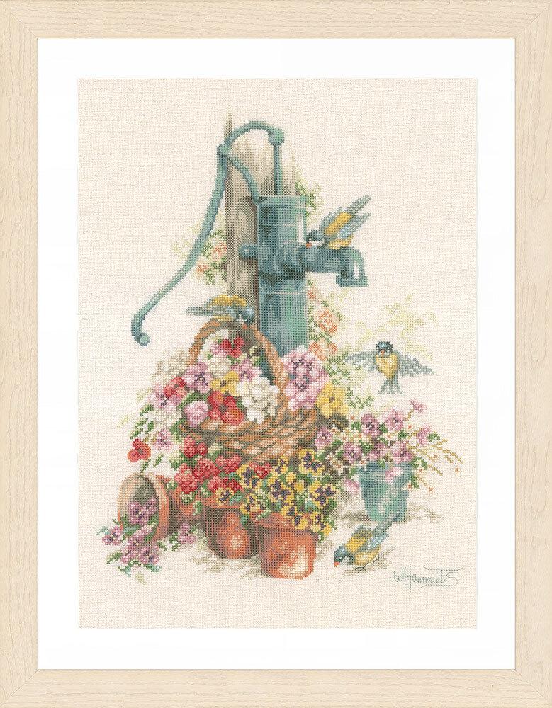 """Набор для вышивания """"LANARTE"""" №087PN-0007958 """"Колонка в цветах"""""""