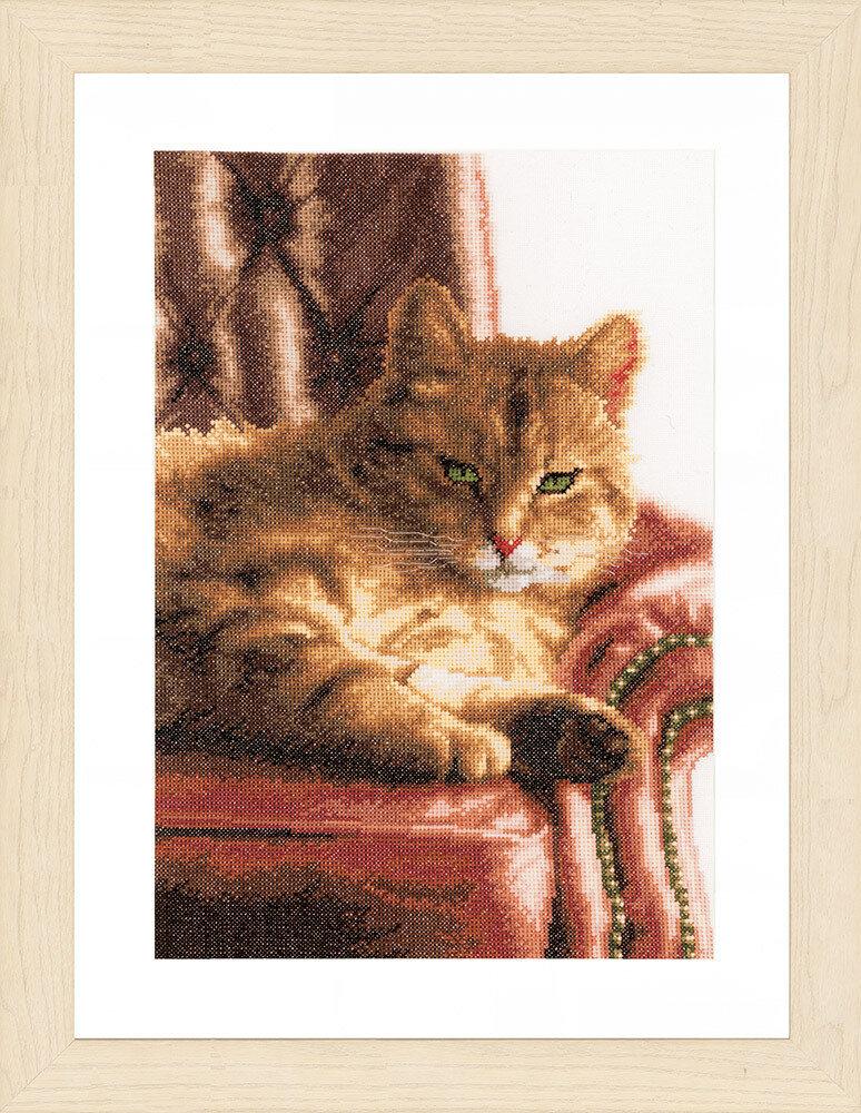 """Набор для вышивания """"LANARTE"""" №091PN-0021762 """"Отдыхающий кот"""""""