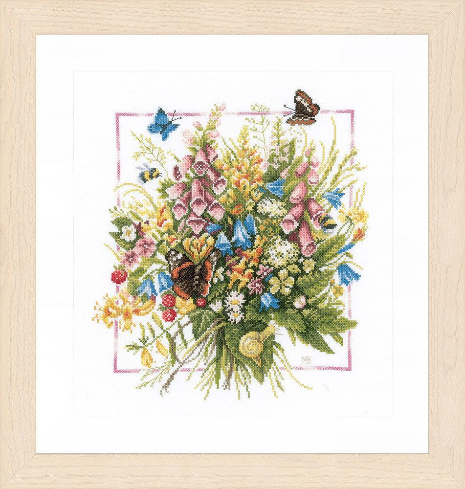 """Набор для вышивания """"LANARTE"""" №092PN-0144527 """"Бабочки с цветами"""""""