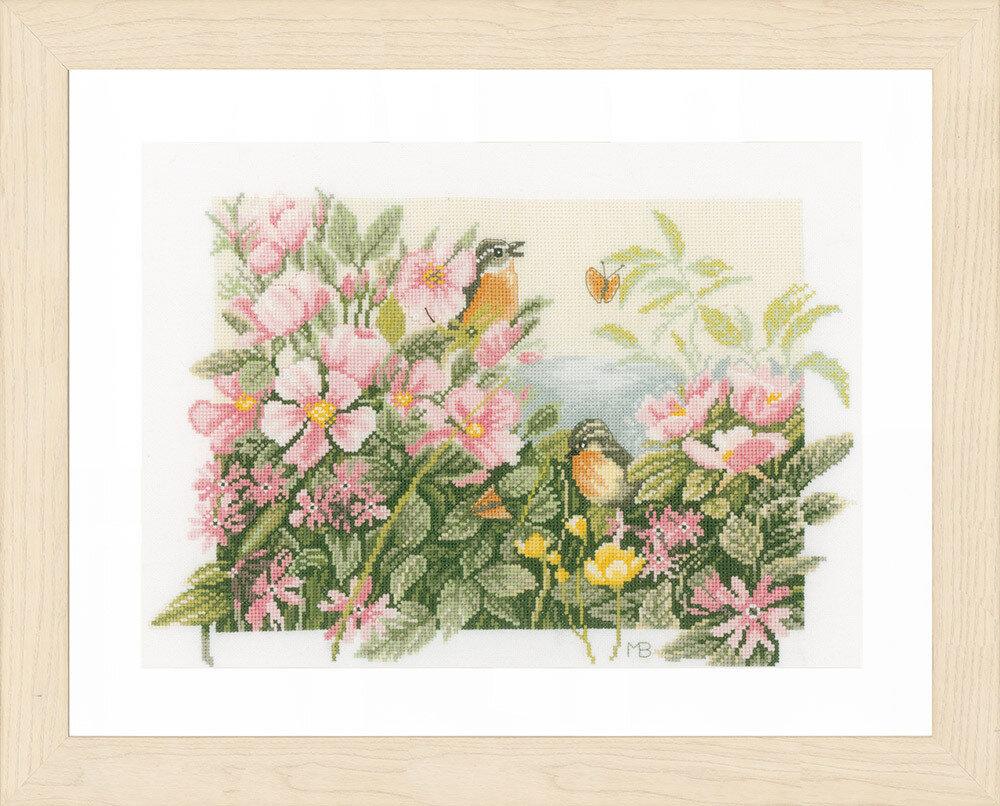 """Набор для вышивания """"LANARTE"""" №095PN-0157494 """"Птицы и розы"""""""