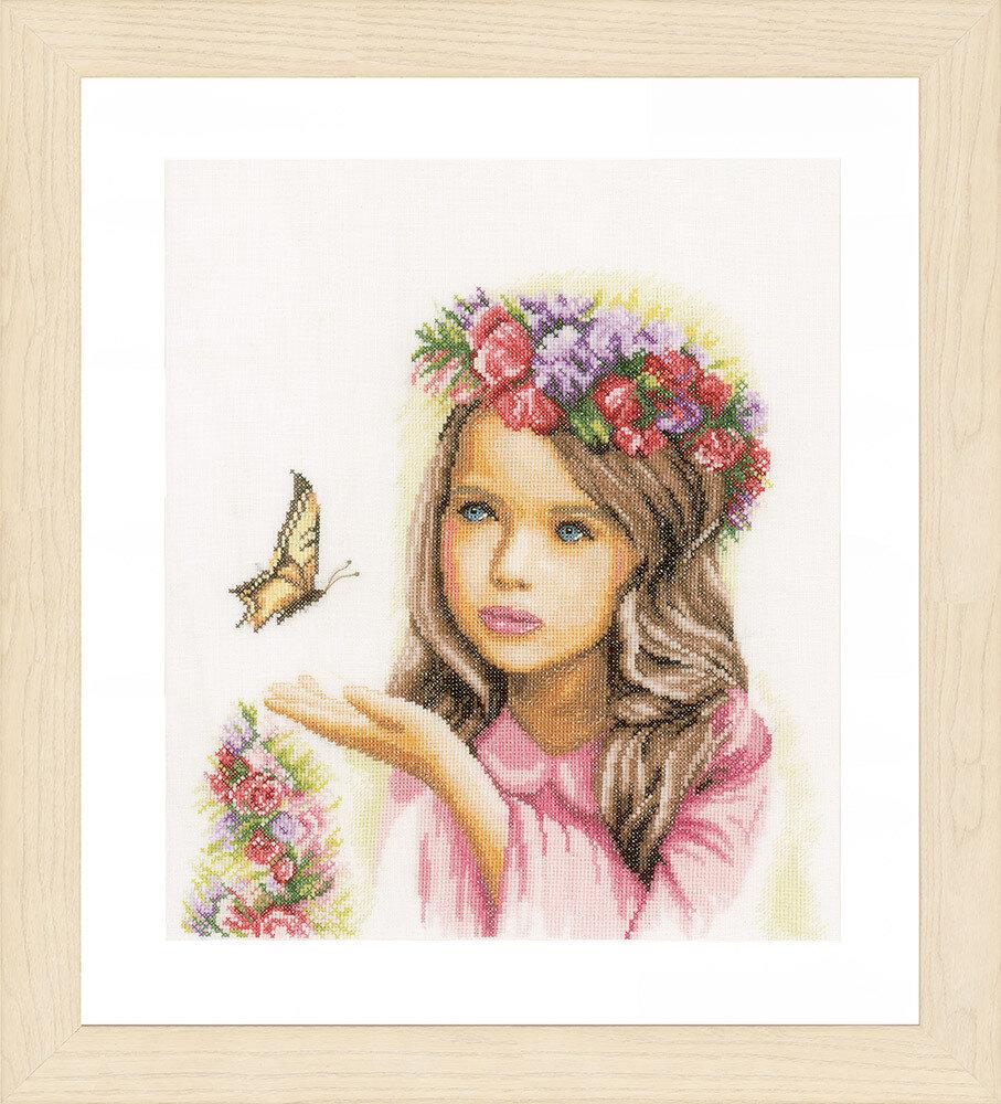 """Набор для вышивания """"LANARTE"""" №097PN-0164072 """"Ангел с бабочками"""""""