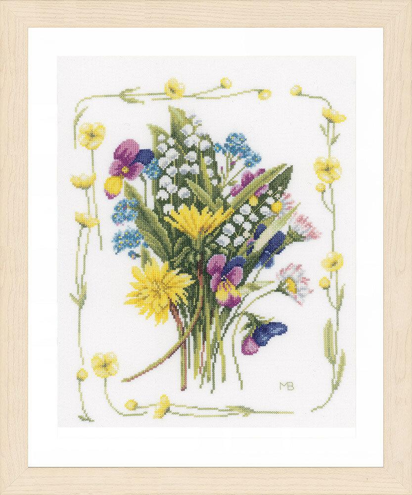 """Набор для вышивания """"LANARTE"""" №101PN-0167125 """"Букет из полевых цветов"""""""