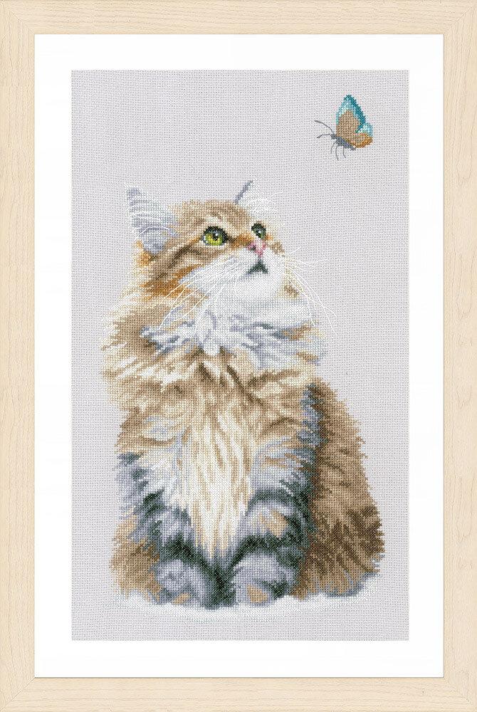 """Набор для вышивания """"LANARTE"""" №108PN-0171041 """"Пушистый кот"""""""