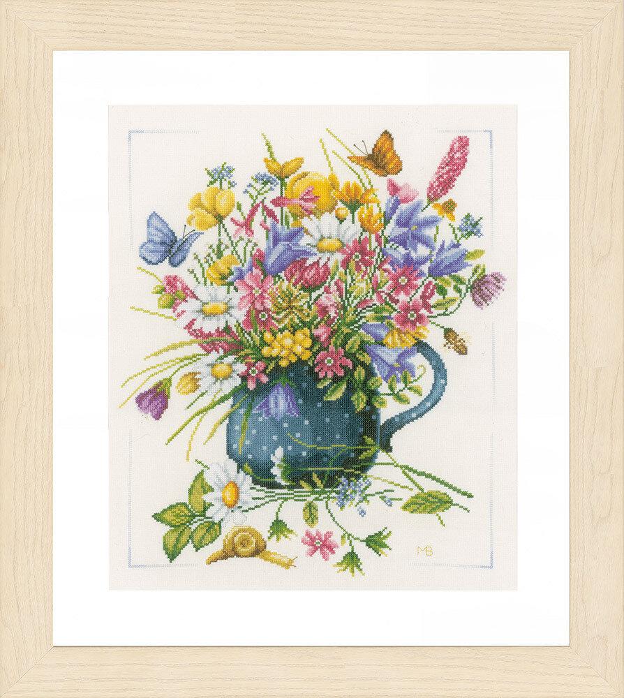 """Набор для вышивания """"LANARTE"""" №114PN-0164074 """"Цветы в вазе"""""""