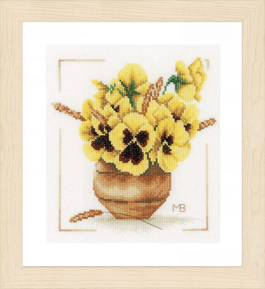 """Набор для вышивания """"LANARTE"""" №115PN-0164071 """"Желтые фиалки"""""""