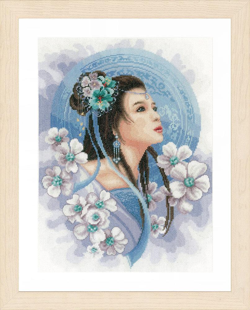 """Набор для вышивания """"LANARTE"""" №117PN-0169168 """"Восточная девушка в голубом"""""""