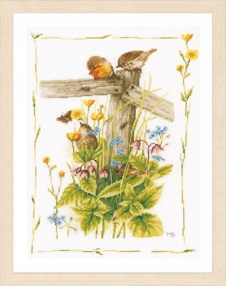 """Набор для вышивания """"LANARTE"""" №121PN-0180560 """"Уютный уголок сада"""""""