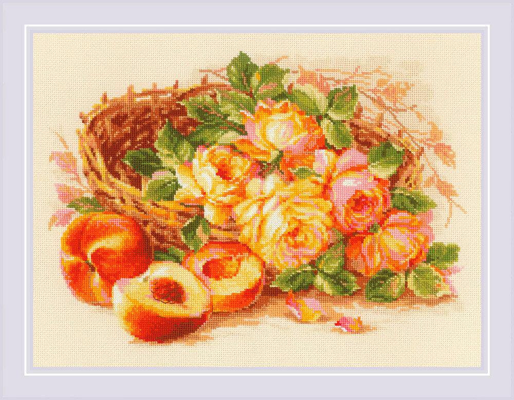 """Набор для вышивания """"RIOLIS"""" 1827 """"Сочный персик"""", 30х40см"""