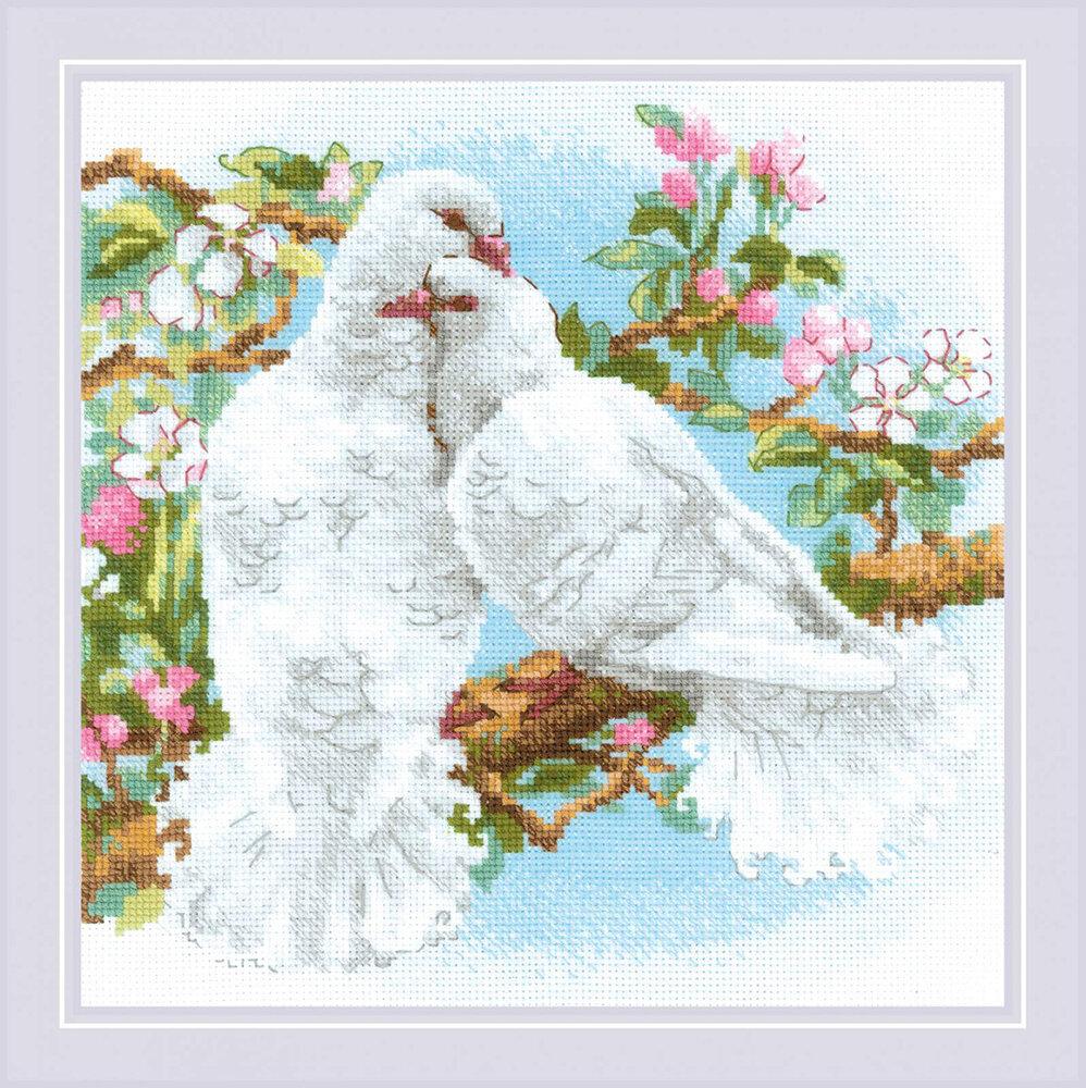 """Набор для вышивания """"RIOLIS"""" 1856 """"Белые голуби"""", 25х25см"""