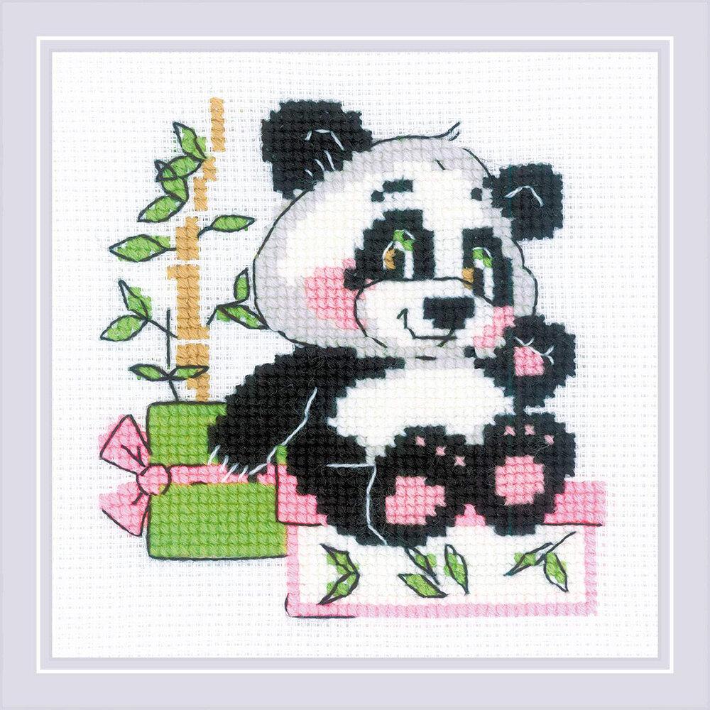 """Набор для вышивания """"RIOLIS"""" 1883 """"Панда-рочек"""", 15х15см"""