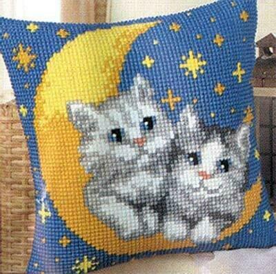 "Набор для вышивания ""VERVACO"" 1200 ""подушка""PN-0008678 (776) ""Котята на луне"""
