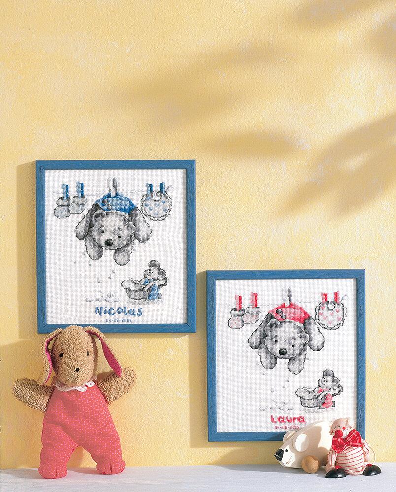 """Набор для вышивания """"VERVACO"""" PN-0011892""""С рождением сыночек и дочка"""""""