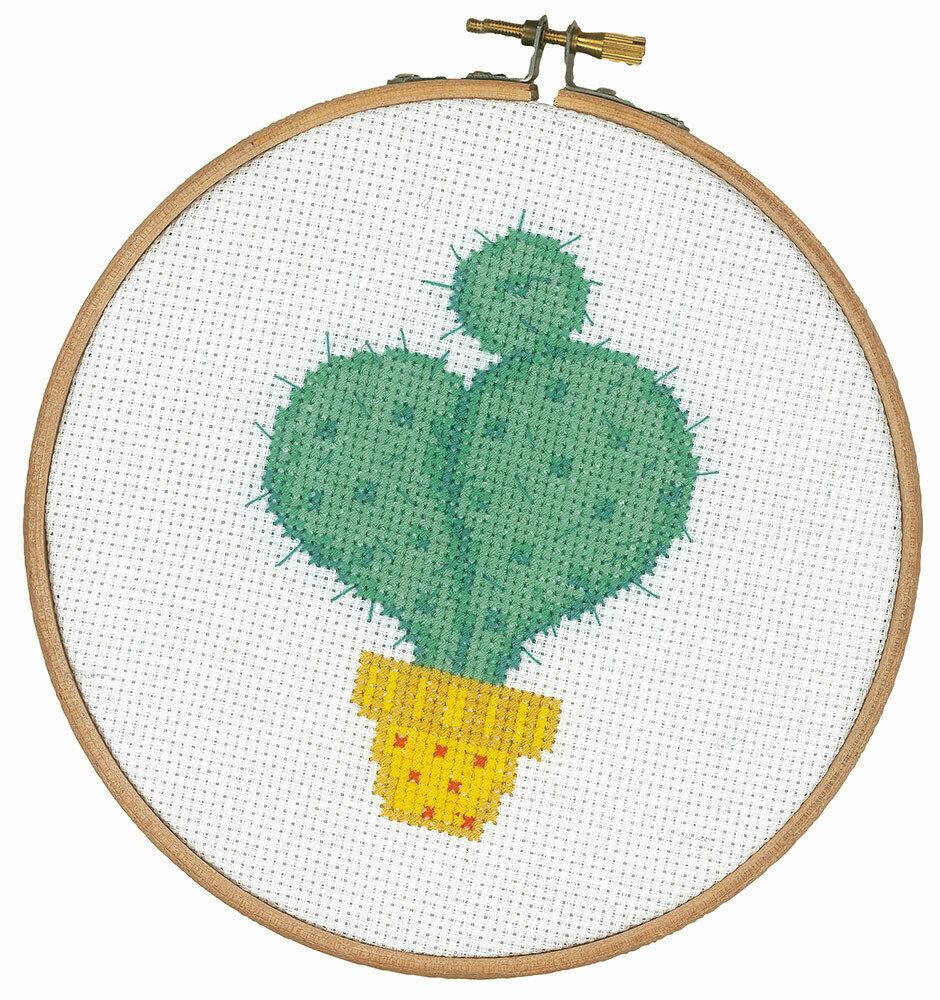 """Набор для вышивания """"VERVACO"""" PN-0155971""""Кактус в жёлтом горшочке"""""""