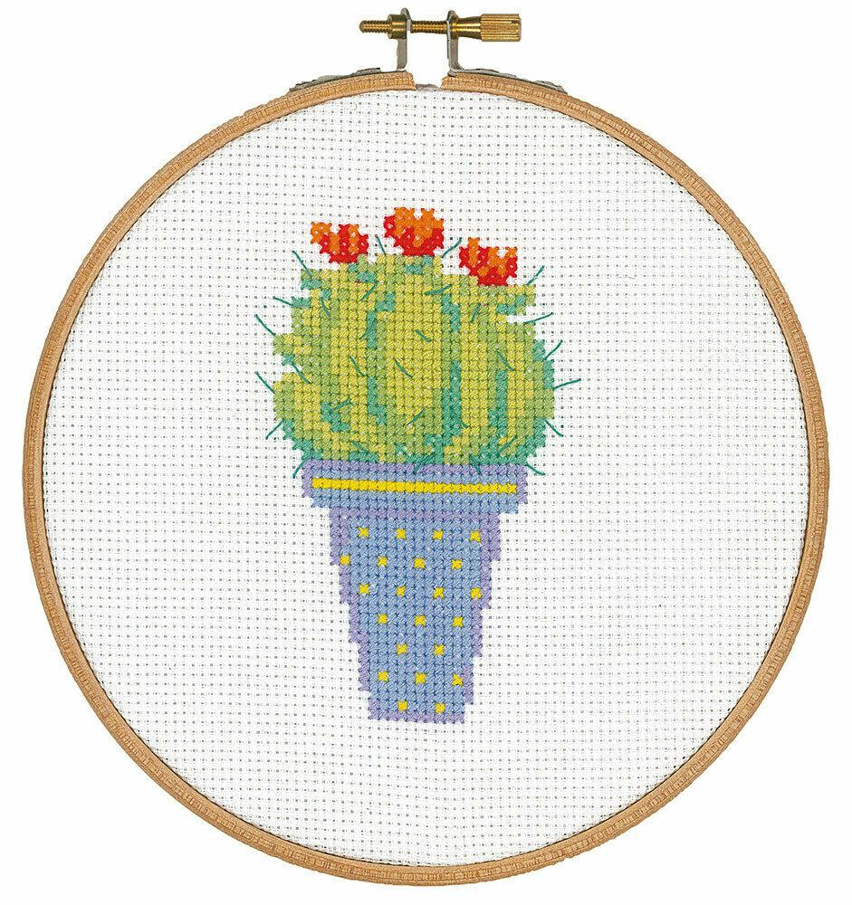"""Набор для вышивания """"VERVACO"""" PN-0155972""""Кактус с красными цветами"""""""