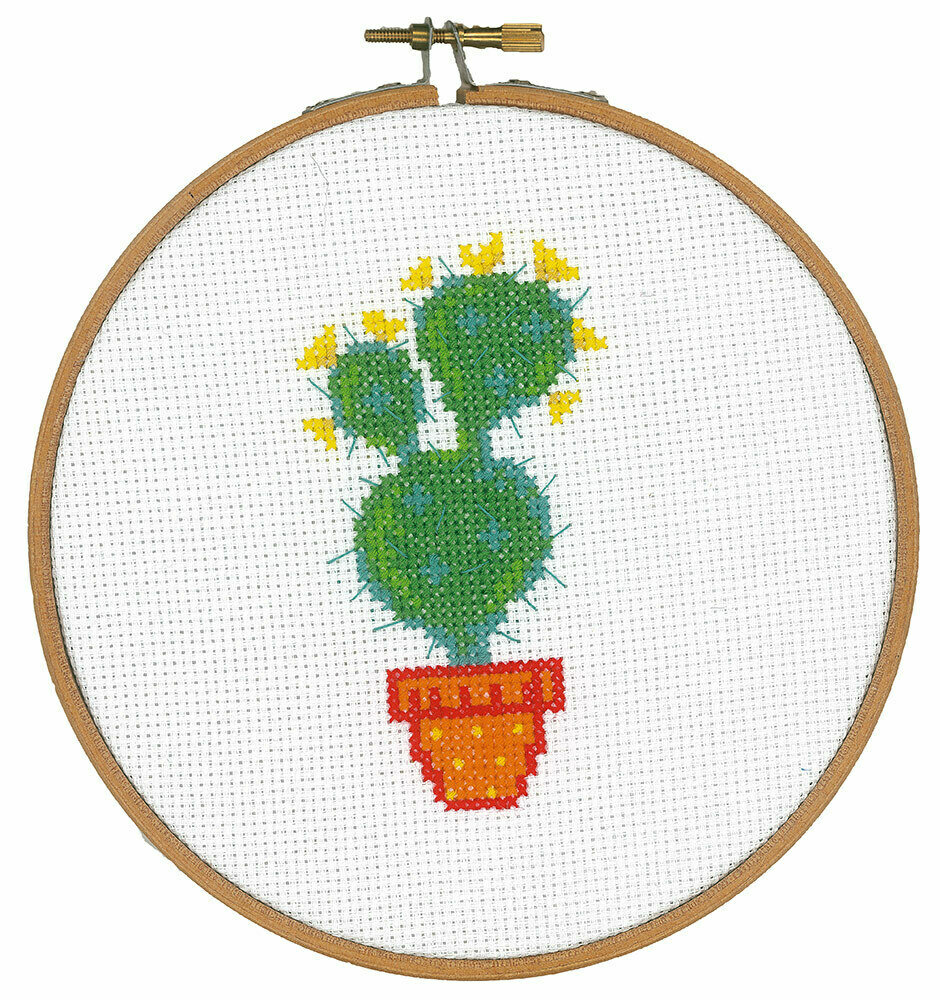 """Набор для вышивания """"VERVACO"""" PN-0155973""""Кактус с жёлтыми цветами"""""""