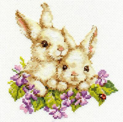 """Набор для вышивания """"Алиса"""" 1-11 """"Крольчата""""15 х 16 см"""