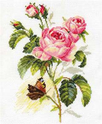 """Набор для вышивания """"Алиса"""" 2-13 """"Роза и бабочка""""17 х 25 см"""
