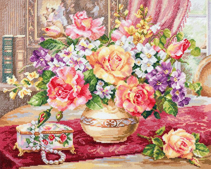 """Набор для вышивания """"Алиса"""" 2-50 """"Розы в гостиной""""33 х 39 см"""