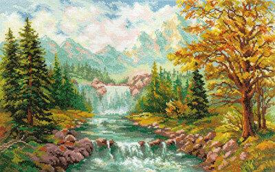 """Набор для вышивания """"Алиса"""" 3-09 """"Горный водопад""""41 х 26 см"""