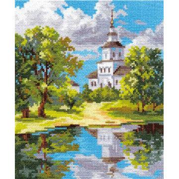 """Набор для вышивания """"Алиса"""" 3-11 """"Храм у пруда""""18 х 21 см"""