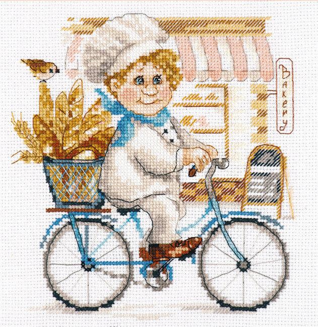 """Набор для вышивания """"Алиса"""" 6-10 """"Пекарь""""16 х 17 см"""