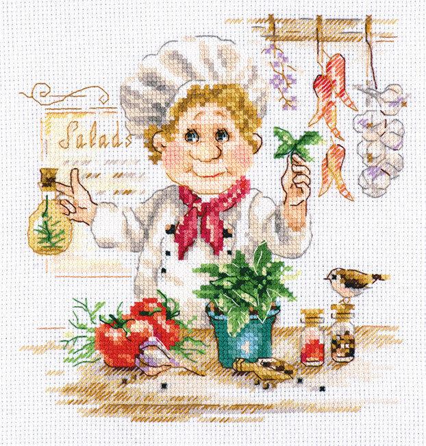 """Набор для вышивания """"Алиса"""" 6-11 """"Шеф-повар""""16 х 17 см"""