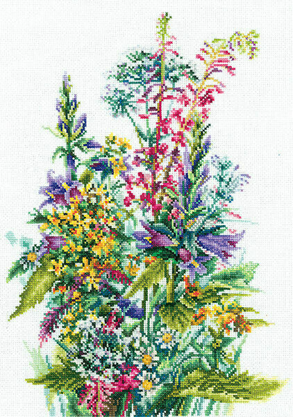 """Набор для вышивания """"ИН"""" №121П-50 """"Полевые цветы"""" 32 х 23 см"""