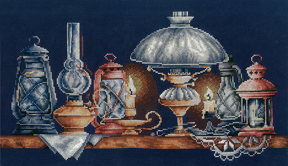 """Набор для вышивания """"ИН"""" №122Л-14 """"Лампы"""" (хлопок) 40.5 х 21 см"""