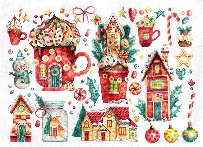 """Набор для вышивания """"ИН"""" №127Р-52 """"Рождественские сладости"""" 21 х 30 см"""