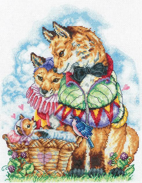 """Набор для вышивания """"ИН"""" №127С-51 """"Семейный портрет"""" 27 х 20.5 см"""
