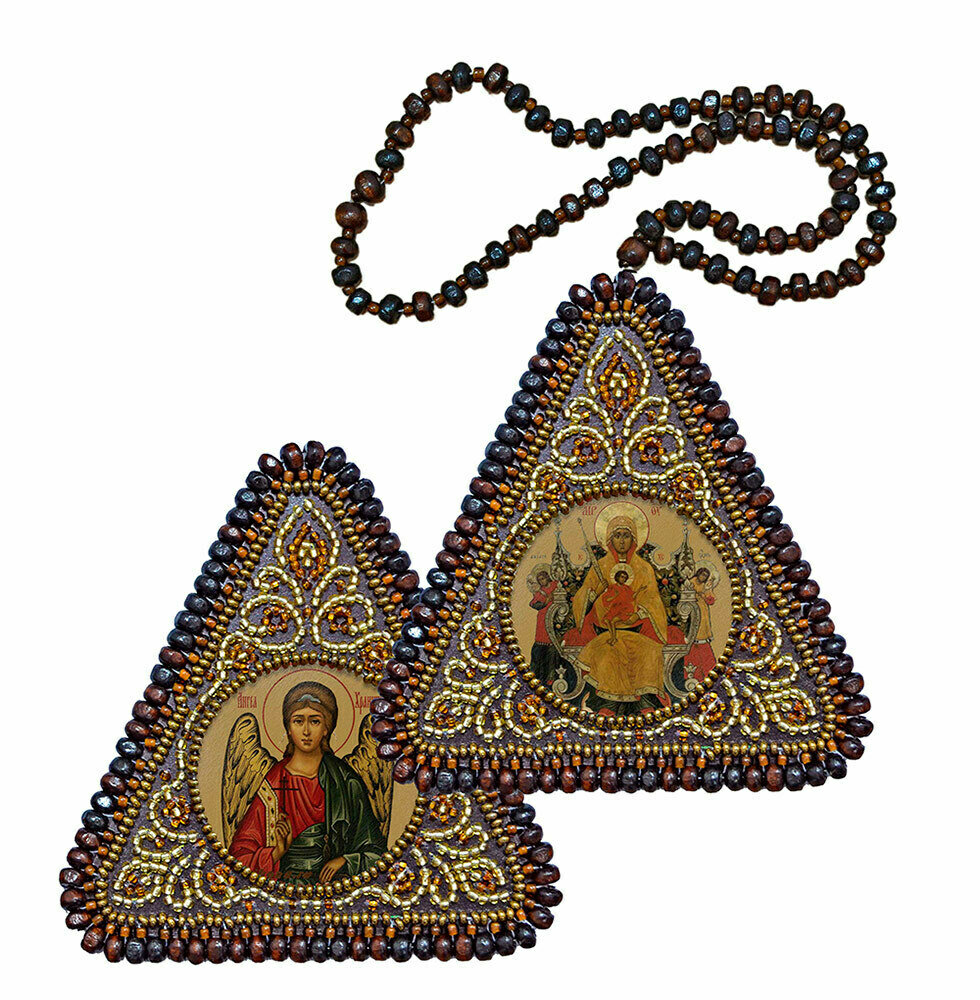 """Набор для вышивания """"Нова Слобода"""", 1022 """"Богородица """"Всецарица"""" и Ангел Хранитель"""" 7х7см"""