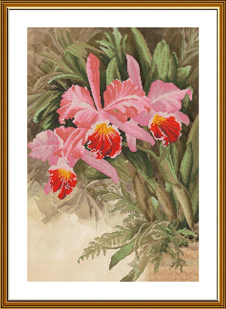 """Набор для вышивания """"Нова Слобода"""", 2239 """"Тропическая орхидея"""" 32,8х48,4см"""