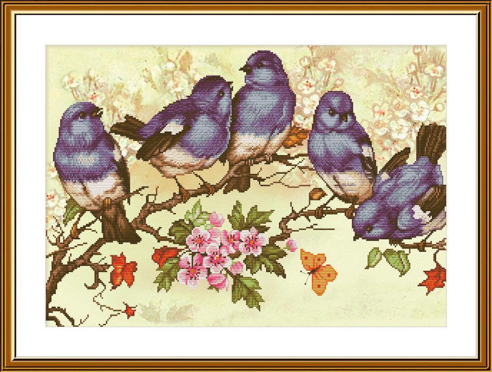 """Набор для вышивания """"Нова Слобода"""", 3284 """"Птичий хор"""" 28,3х40,3см"""
