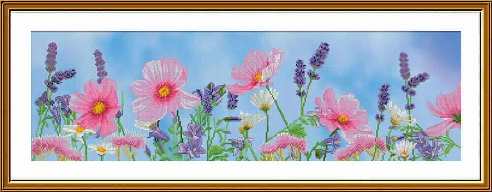 """Набор для вышивания """"Нова Слобода"""", 6231 """"Полевые цветы"""" 19х61см"""