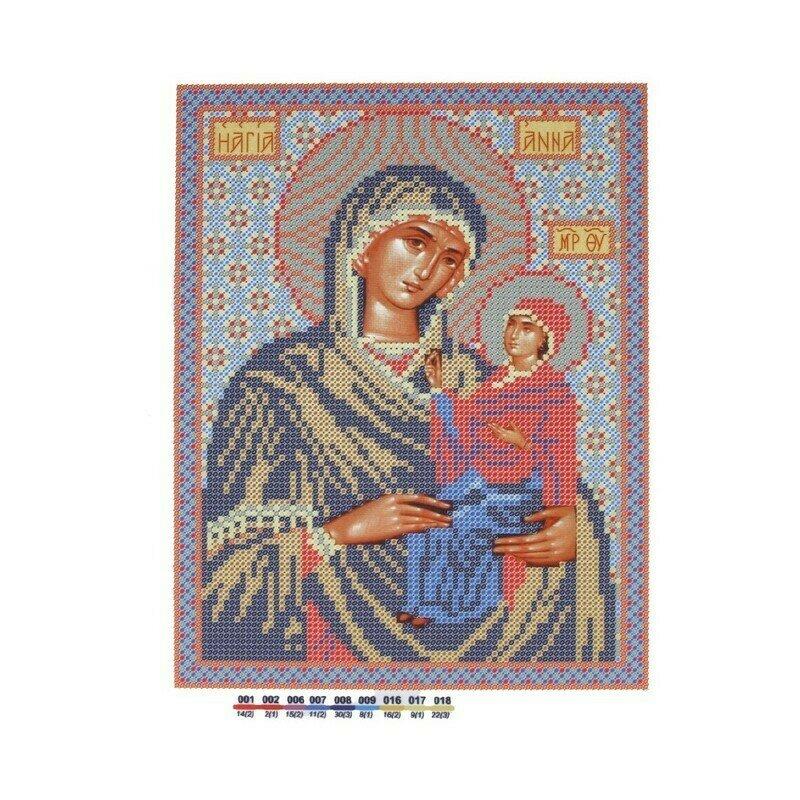 """Набор для вышивания """"Нова Слобода"""", БИС 9037 """"Св. Анна с Младенцем Марией"""""""