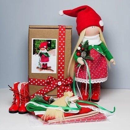 Набор для изготовления интерьерной куклы - K66 Новый год