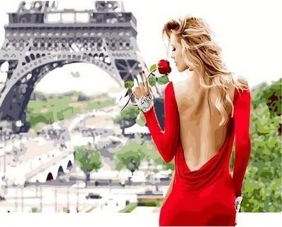 Картина по номерам Paintboy Original GX26444 Аромат Парижа 40х50см