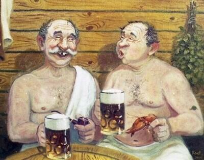 Картина по номерам 40х50см - Русская баня