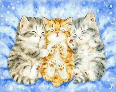 Картина по номерам GX 35208 Спящие котята 40*50