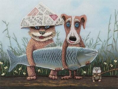 """Набор для вышивания """"PANNA"""" """"Живая картина"""" JK-2075 ( ЖК-2075 ) """"Большая рыба"""""""