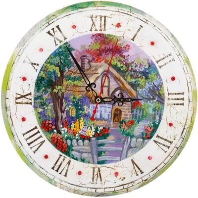 """Набор для вышивания """"PANNA"""" """"Живая картина"""" JK-2107 ( ЖК-2107 ) """"Часы с домиком"""""""