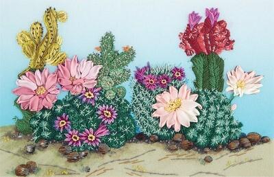 """Набор для вышивания """"PANNA"""" """"Живая картина"""" JК-2131 """"Весна в пустыне"""""""