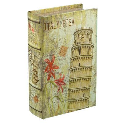 """BBK-01 шкатулка-книга 17 x 11 x 5 см, №009 """"Италия"""""""