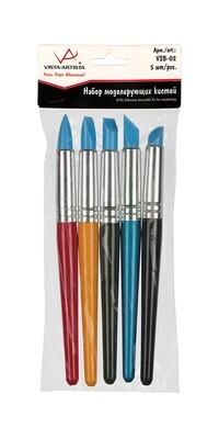 """Наборы кистей """"VISTA-ARTISTA"""" набор моделирующих кистей 19 см VSB-02 5 шт. короткая ручка"""