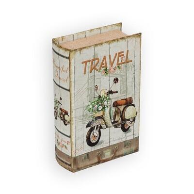 "BBK-01 шкатулка-книга 17 x 11 x 5 см, №049 ""Путешествие на мопеде"""