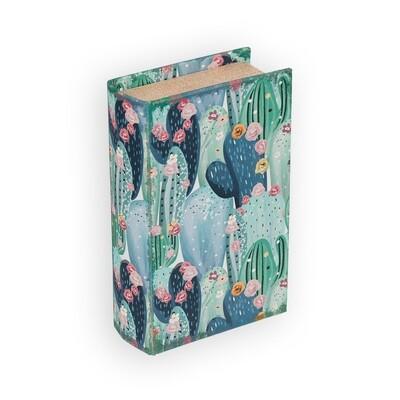 """BBK-01 шкатулка-книга 17 x 11 x 5 см, №079 """"Цветущие кактусы"""""""